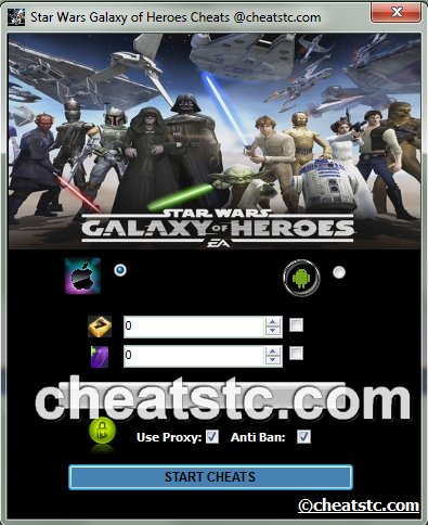 Star Wars Galaxy of Heroes Hack Cheats Unlimited Credit ...