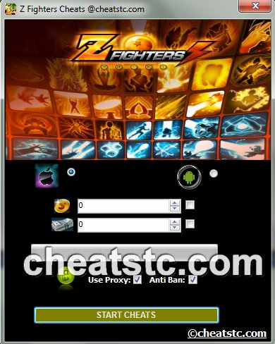 Z Fighters Cheats | Cheats Tools Center