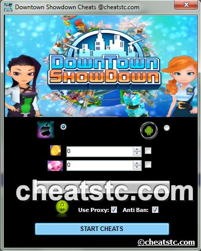 Downtown Showdown Cheats
