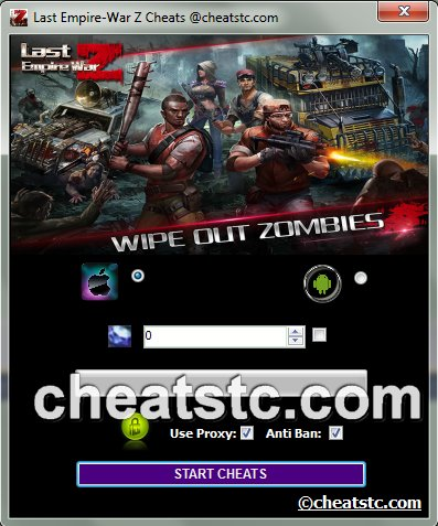 Last Empire-War Z Cheats