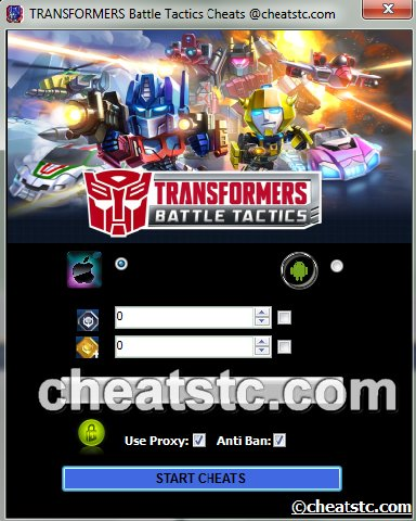 TRANSFORMERS Battle Tactics Cheats