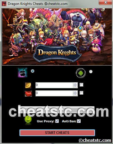 Dragon Knights Cheats