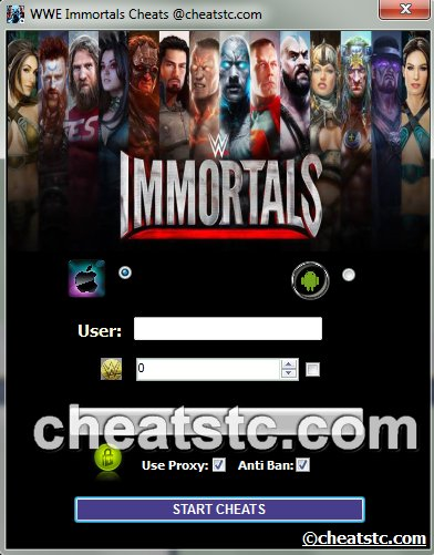 WWE Immortals Cheats