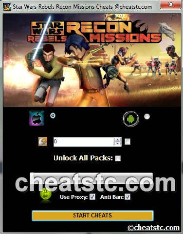 Star Wars Rebels Recon Missions Cheats