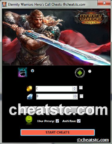 Eternity Warriors Hero's Call Cheats