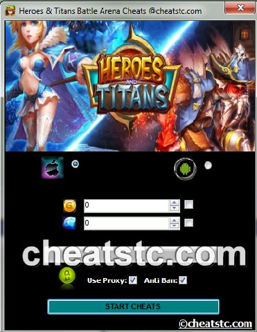 Heroes and Titans Battle Arena Cheats