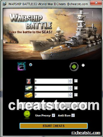 WARSHIP BATTLE 3D World War II Cheats