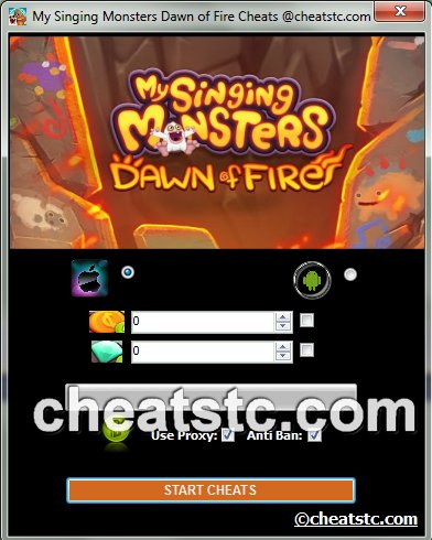 My Singing Monsters Dawn of Fire Cheats