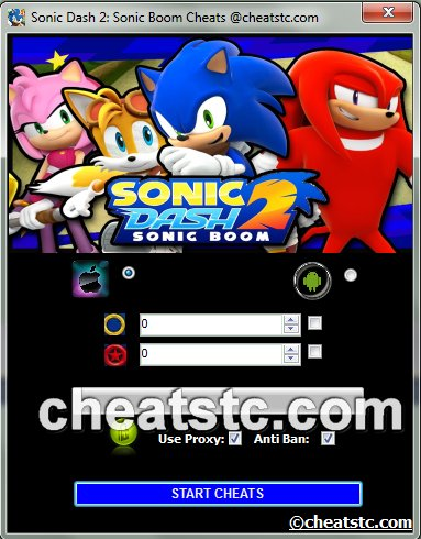 Sonic Dash 2 Sonic Boom Cheats