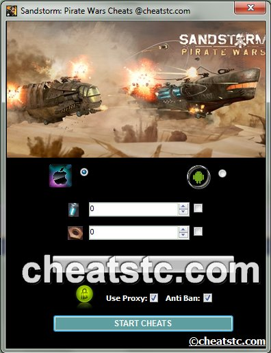 Sandstorm Pirate Wars Cheats