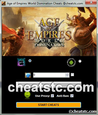 Age of Empires World Domination Cheats