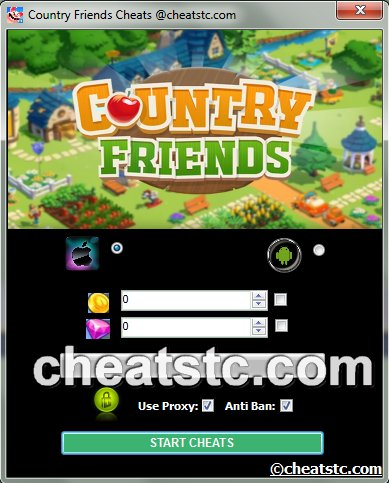 Country Friends Cheats