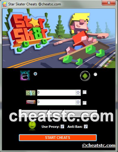 Star Skater Cheats