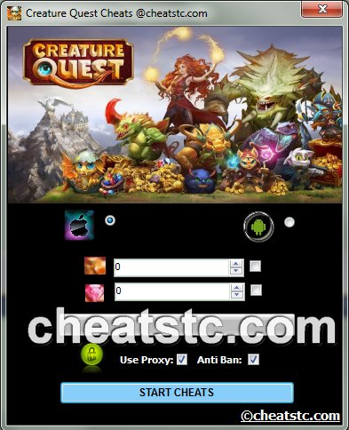 Creature Quest Cheats