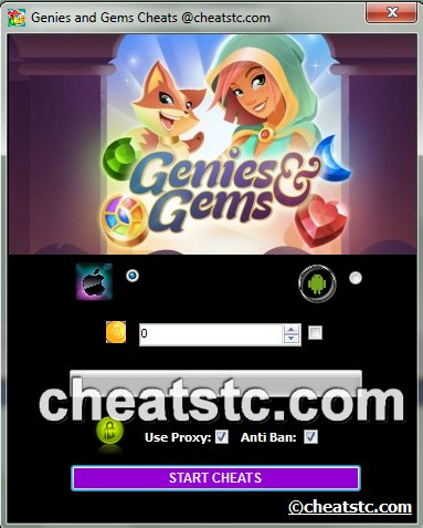 Genies and Gems Cheats
