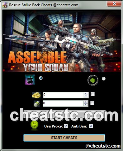 Rescue Strike Back Cheats