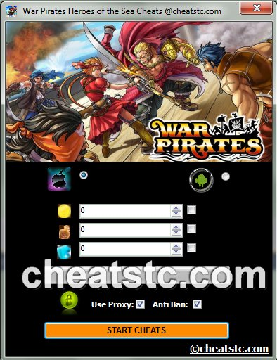 War Pirates Heroes of the Sea Cheats